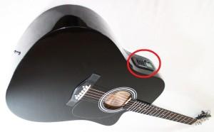 Тюнер, встроенный в гитару