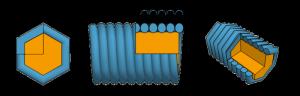 струны с гексагональной оплеткой