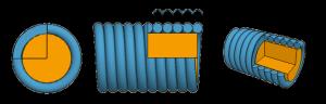 струна с круглой оплеткой