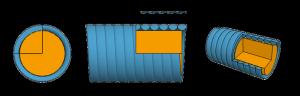 струны с полукруглой оплеткой