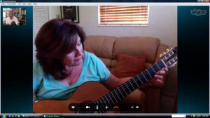 уроки гитары через skype
